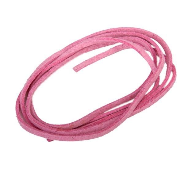 3mm Pink Flat Flocking Cord for Necklace Bracelet 20m