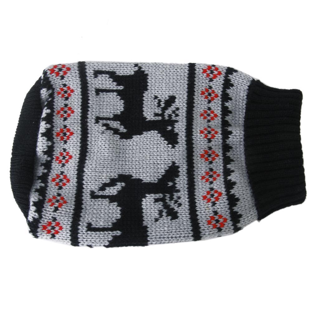 Black Turtleneck Pet Puppy Dog Sweater Clothes - Size S