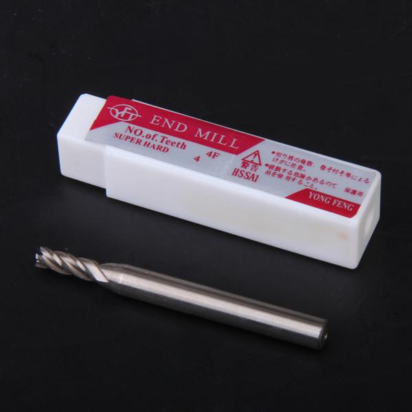 HSS 4-Flute 4mm x 6mm Shank End Milling Cutter