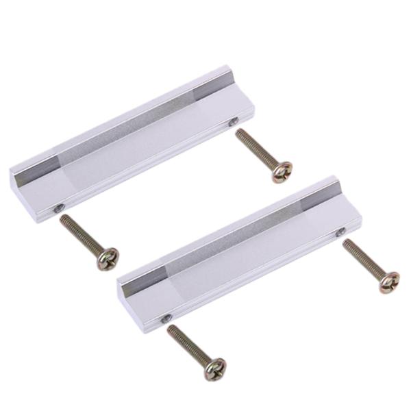 2 PC Aluminum L Handles -Silver 8cm