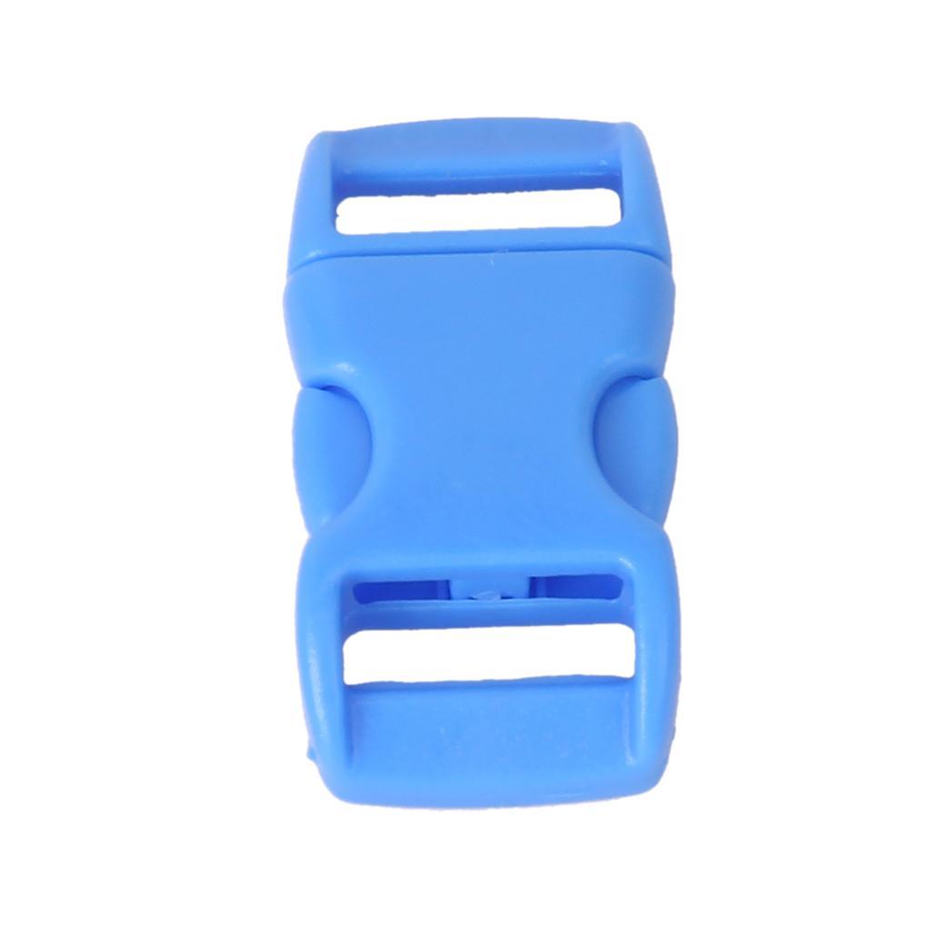 50Pcs 3/8 Inch Side Release Plastic Buckles -Light Blue