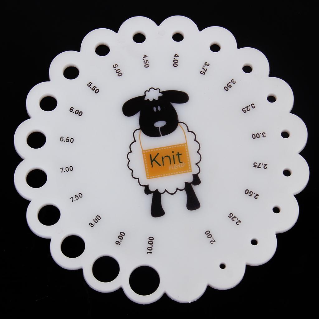 Knitting Knit Needle Gauge Ruler Measure