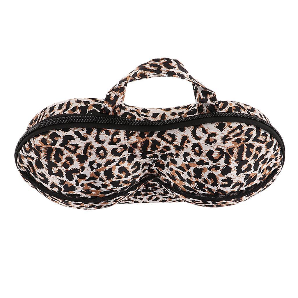 Bra Underwear Lingerie Case Organizer -Leopard Print