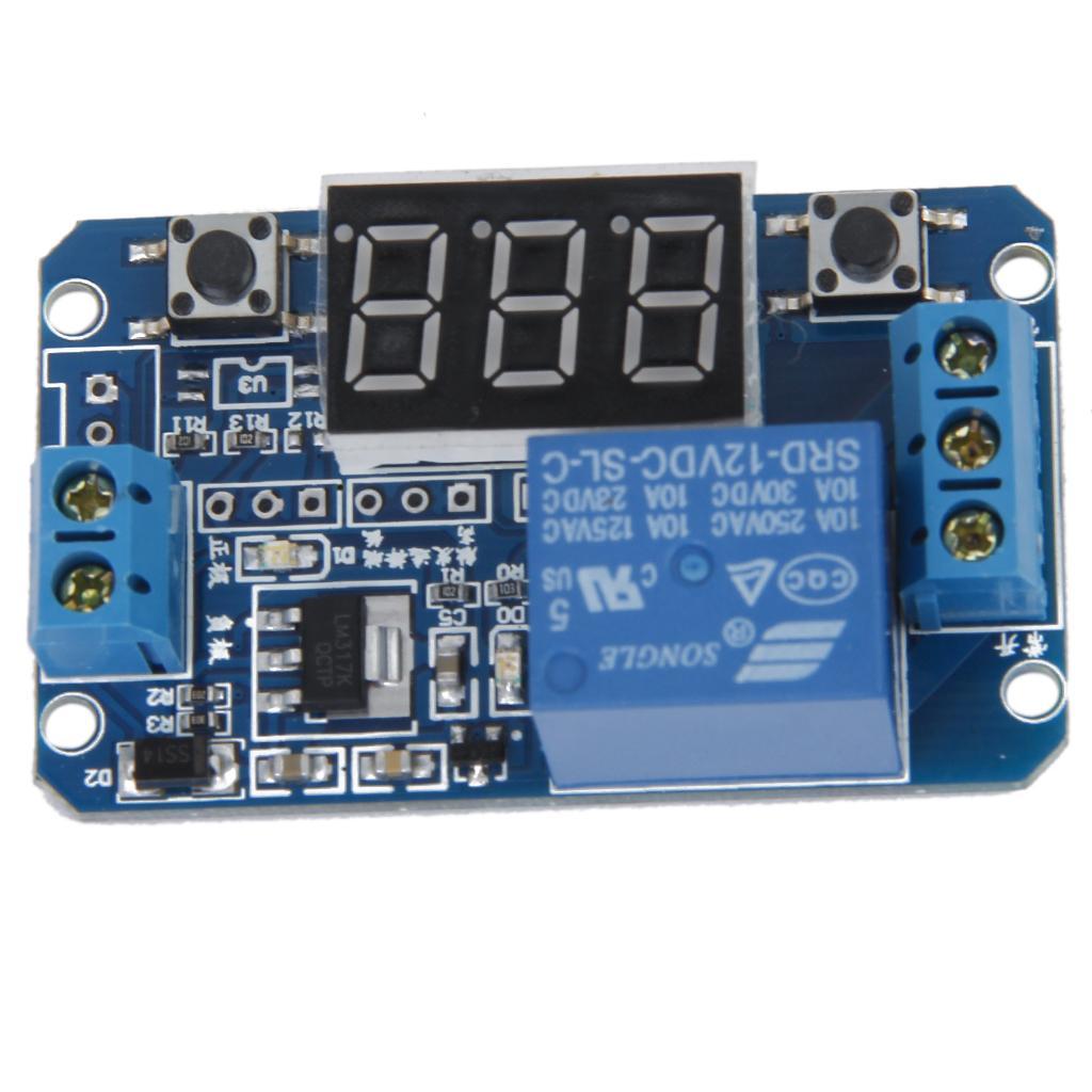 LED Digital Display Cycle Time Delay Module 12V