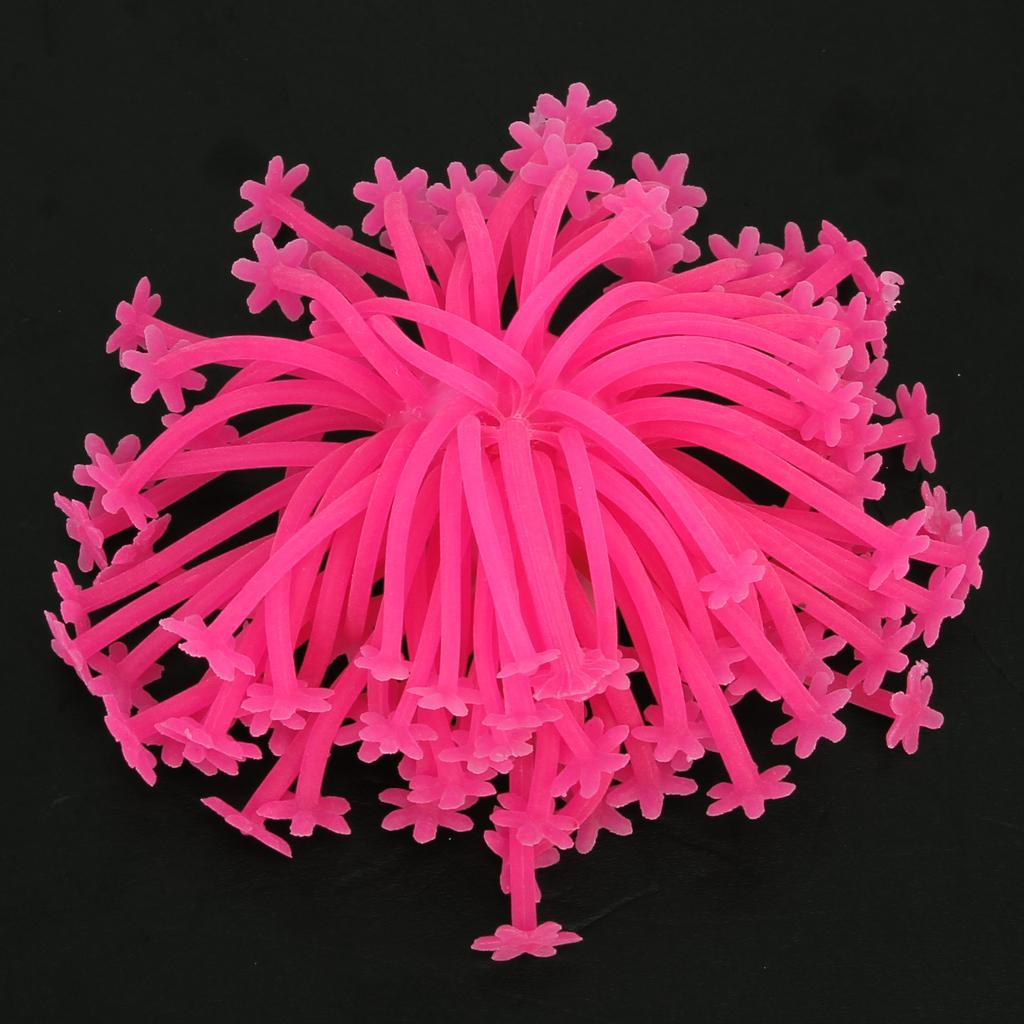 Artificial Silicone Sea Urchin for Aquarium Fish Tank Ornament - Pink