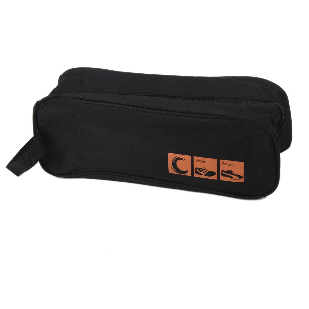 Black Travel Shoes Bag Box Storage Organiser Trips Tidy waterproof