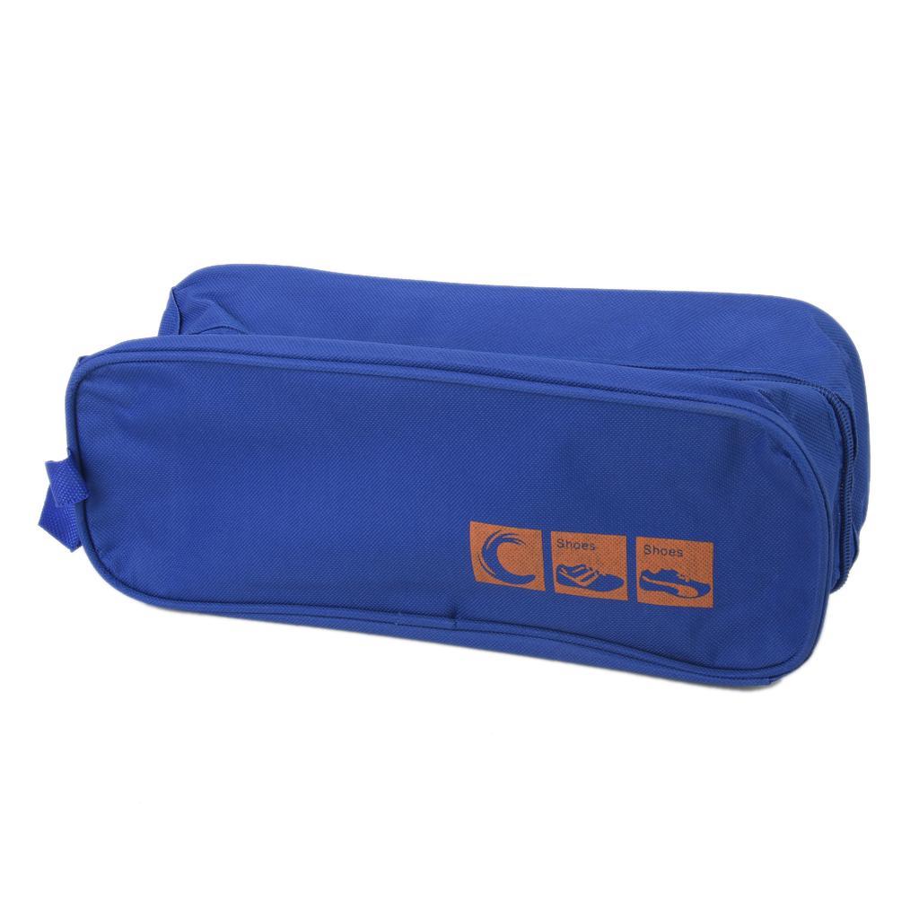 Blue Travel Shoes Bag Box Storage Organiser Trips Tidy waterproof