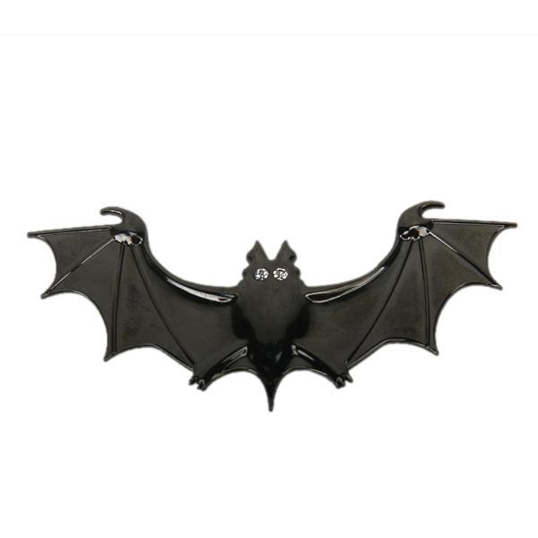 3D Chrome Bat Batman Emblem Car Truck Motor Auto Decal Badge Sticker-Black