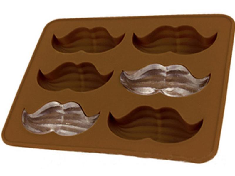 Elegant Beard Mustache Style Silicone Ice Cube Mold Tray