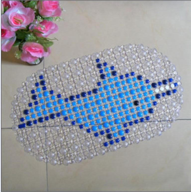 Dolphin Pattern PVC Bathroom Floor Mat Non-slip Mat