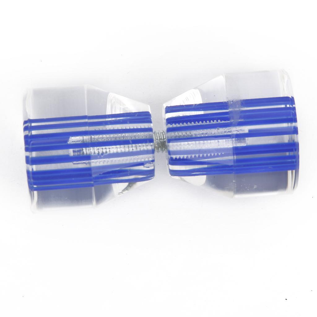 Clear Crystal Blue Line Conical Shape Bathroom Bath Room Door Pull Handle