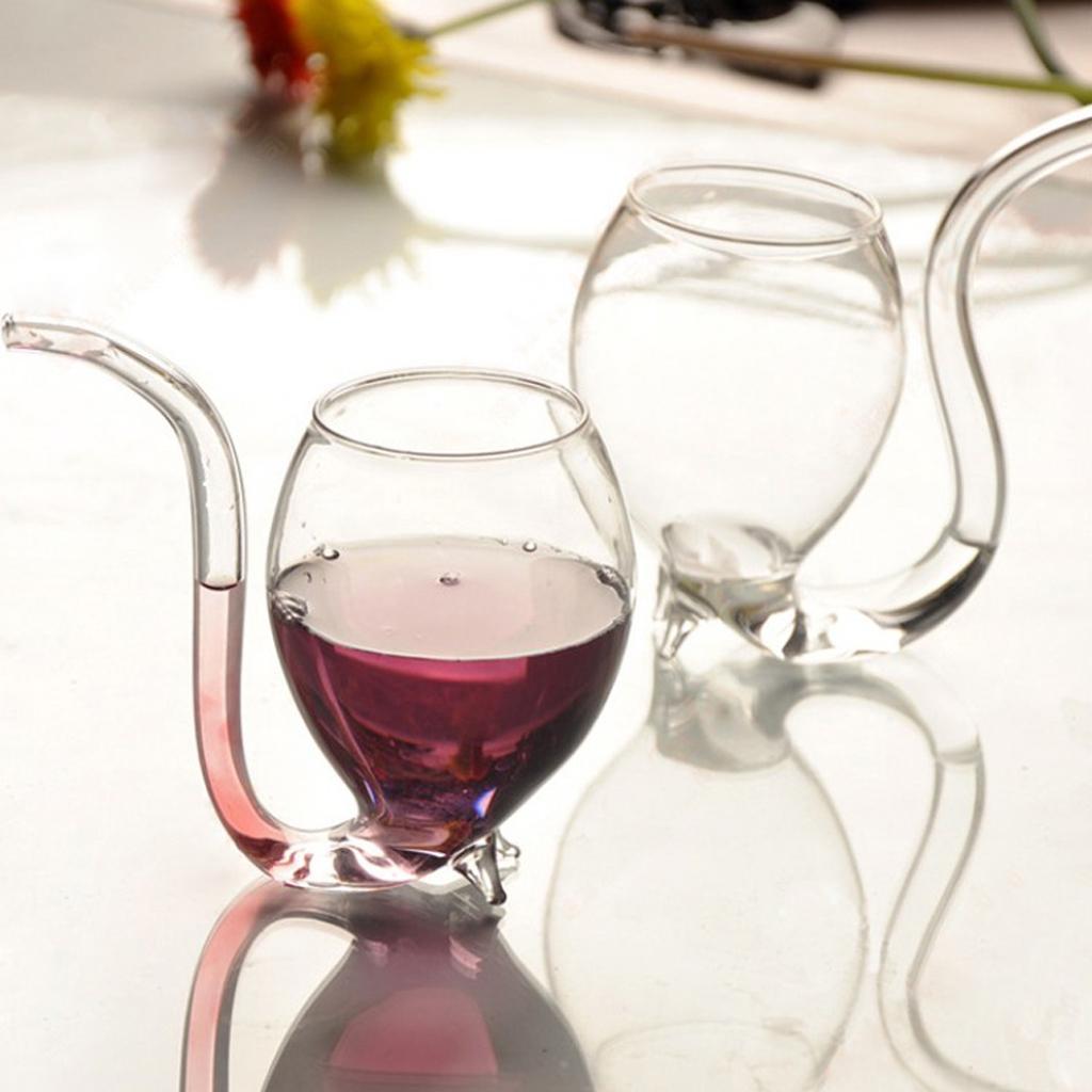 Vampire Red Wine Glass Sucking Cup Mug With Drinking Tube Straw