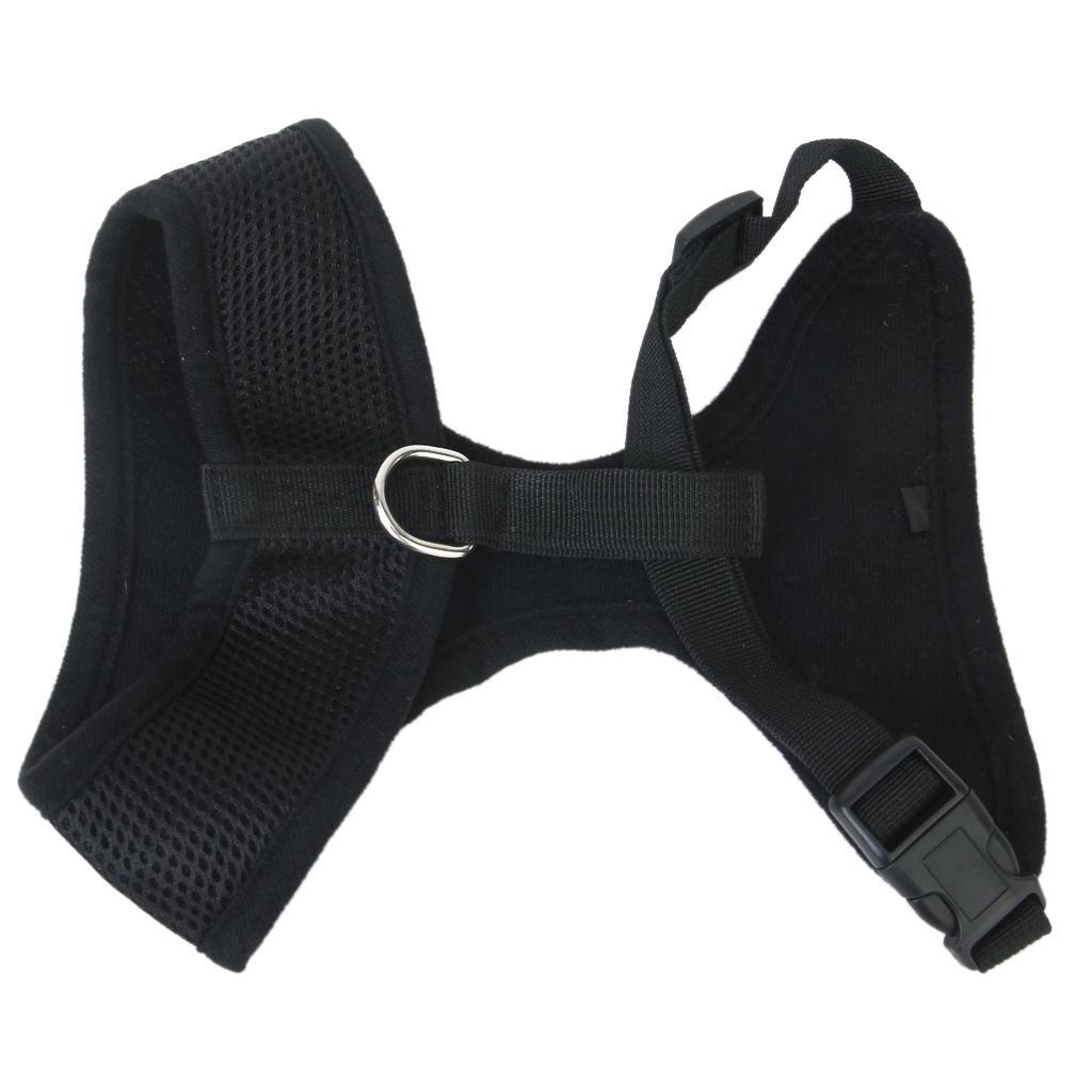 Pet Dog Soft Mesh Harness Clothes XL - Black