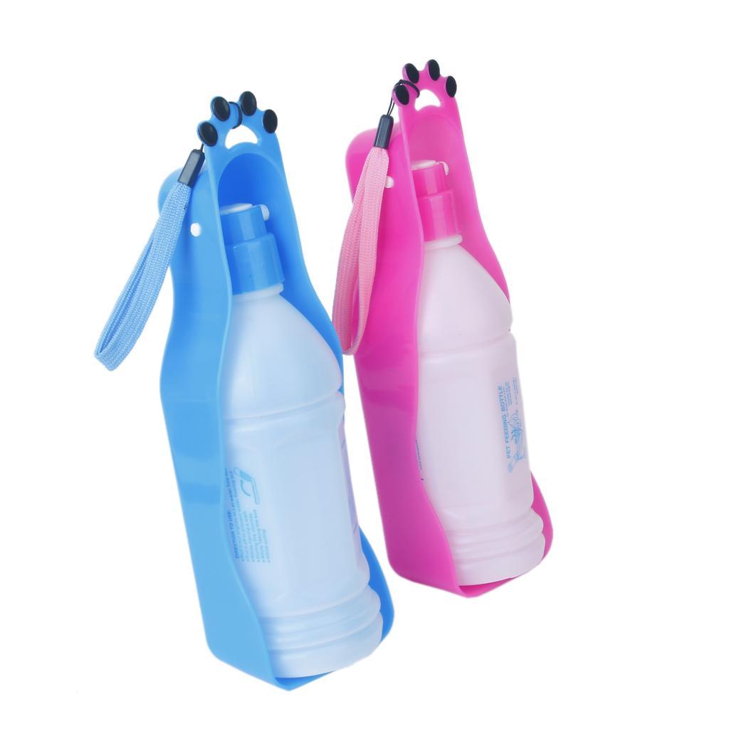 350ml Plastic Portable Pet Dog Water Bottle Travel Dog: 350ml Plastic Travel Water Bottle For Dog Pet