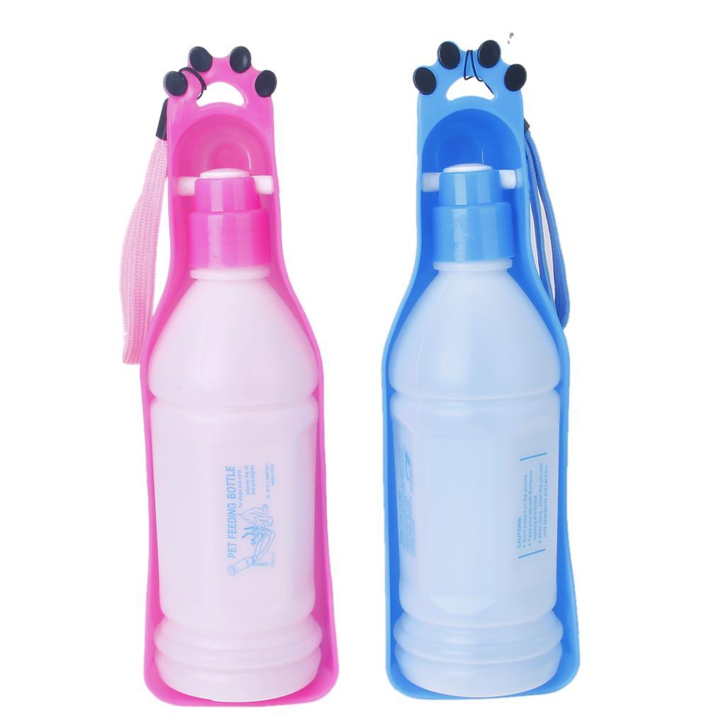 Plastic Pet Travel Water Drinking Bottle Portable Pet Dog: 350ml Plastic Travel Water Bottle For Dog Pet