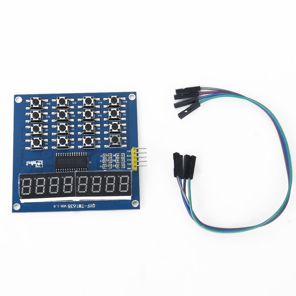 8 Bits LED Digital Tube Module Keyboard Scan and Display Module TM1638