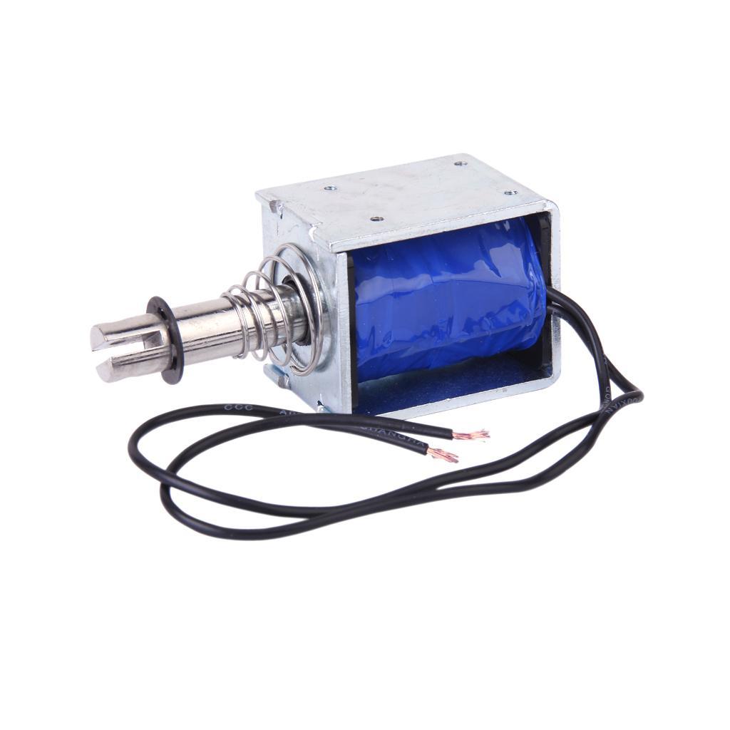 DC 12V Push-Pull Type Open Frame Solenoid Electromagnet (ZYE1-1250Z)