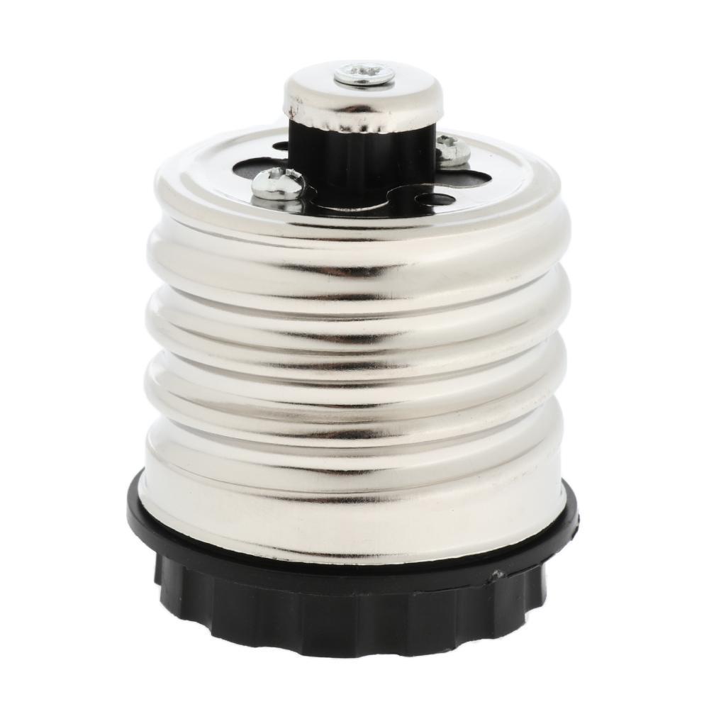 E40 to E27 LED Light Screw Bulb Socket Adapter Converter