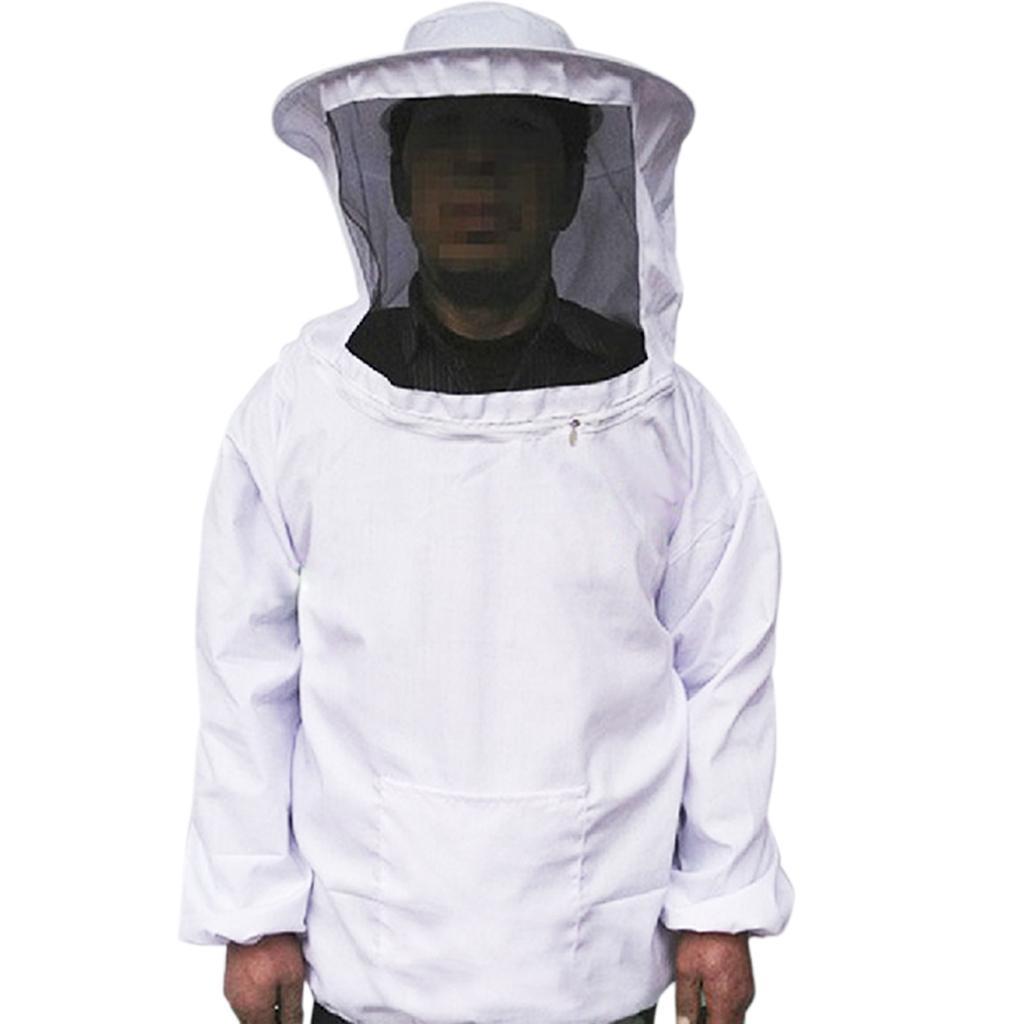 Professional Beekeeping Jacket Veil Bee Protecting Suit Dress Smock Equipment