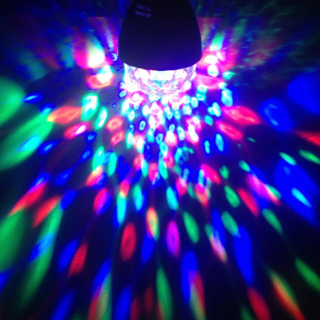 3W RGB Colorful Auto Rotating E27 Base LED Light Bulb for Disco DJ Party Stage