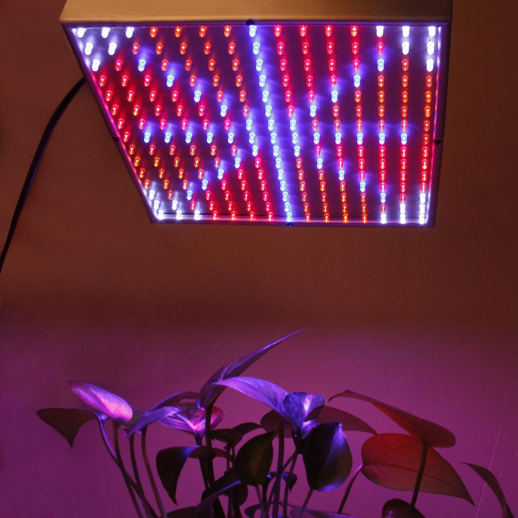 Indoor 225 LED Grow Light Lamp 14W Blue Red Orange White Hydroponic Plant Panel UK