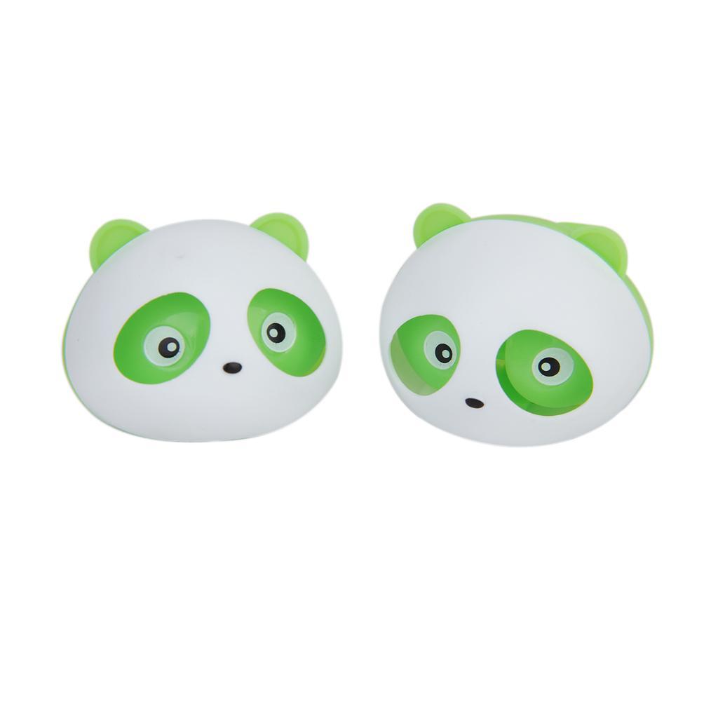 2 Pcs Panda Car Air Freshener Perfume w/Two Clips - Green