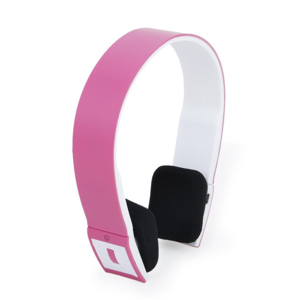 pink bluetooth wireless headphone headset w mic f ipad iphone tablet pc f. Black Bedroom Furniture Sets. Home Design Ideas