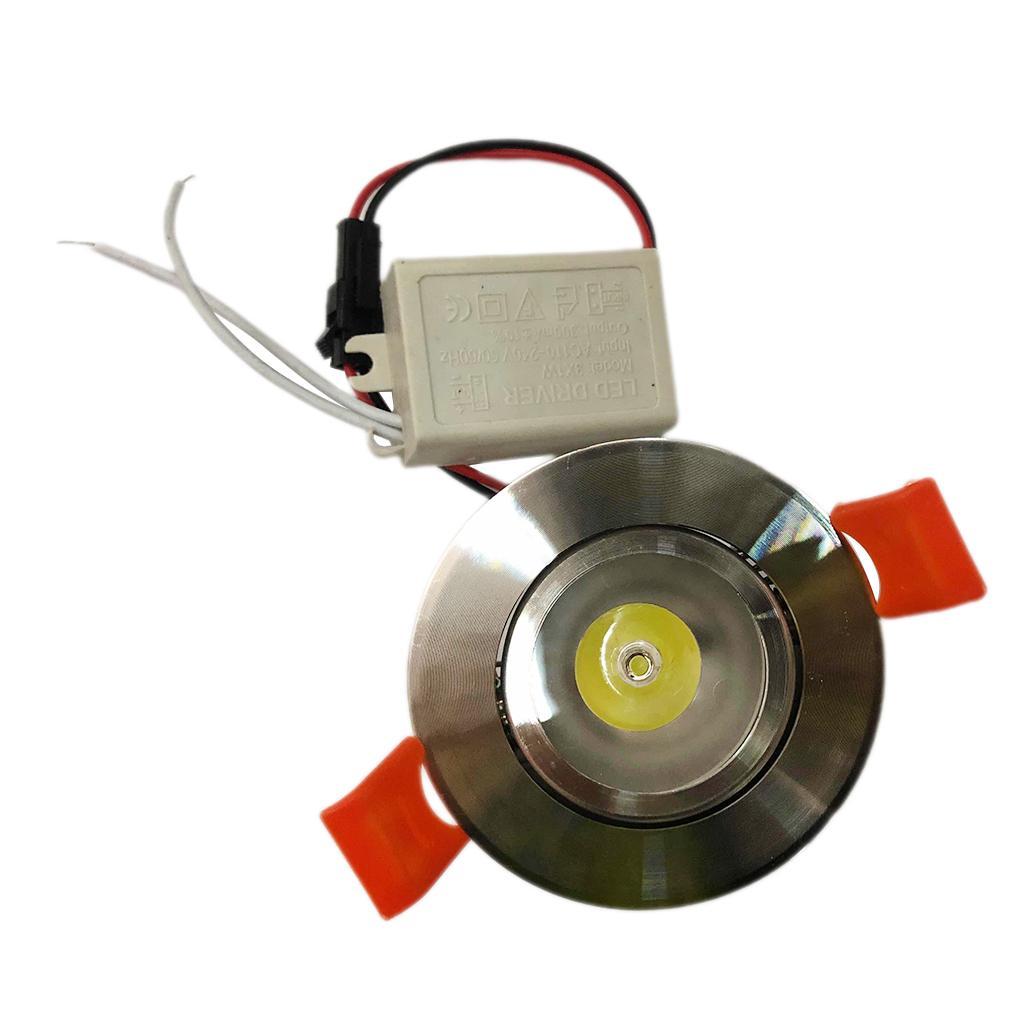 1W LED Downlight kit Recessed Ceiling Fixture Light Lamp Bulb + Driver White