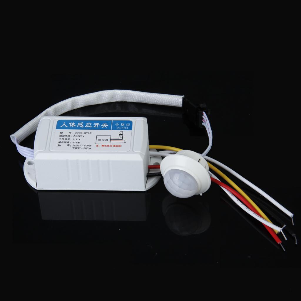 Human Motion Body Movement Infrared IR Sensor Light Switch AC 220V