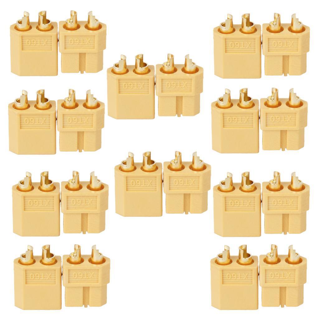 10 Pairs XT60 XT-60 Male Female Bullet Connectors Plugs for RC Lipo Battery