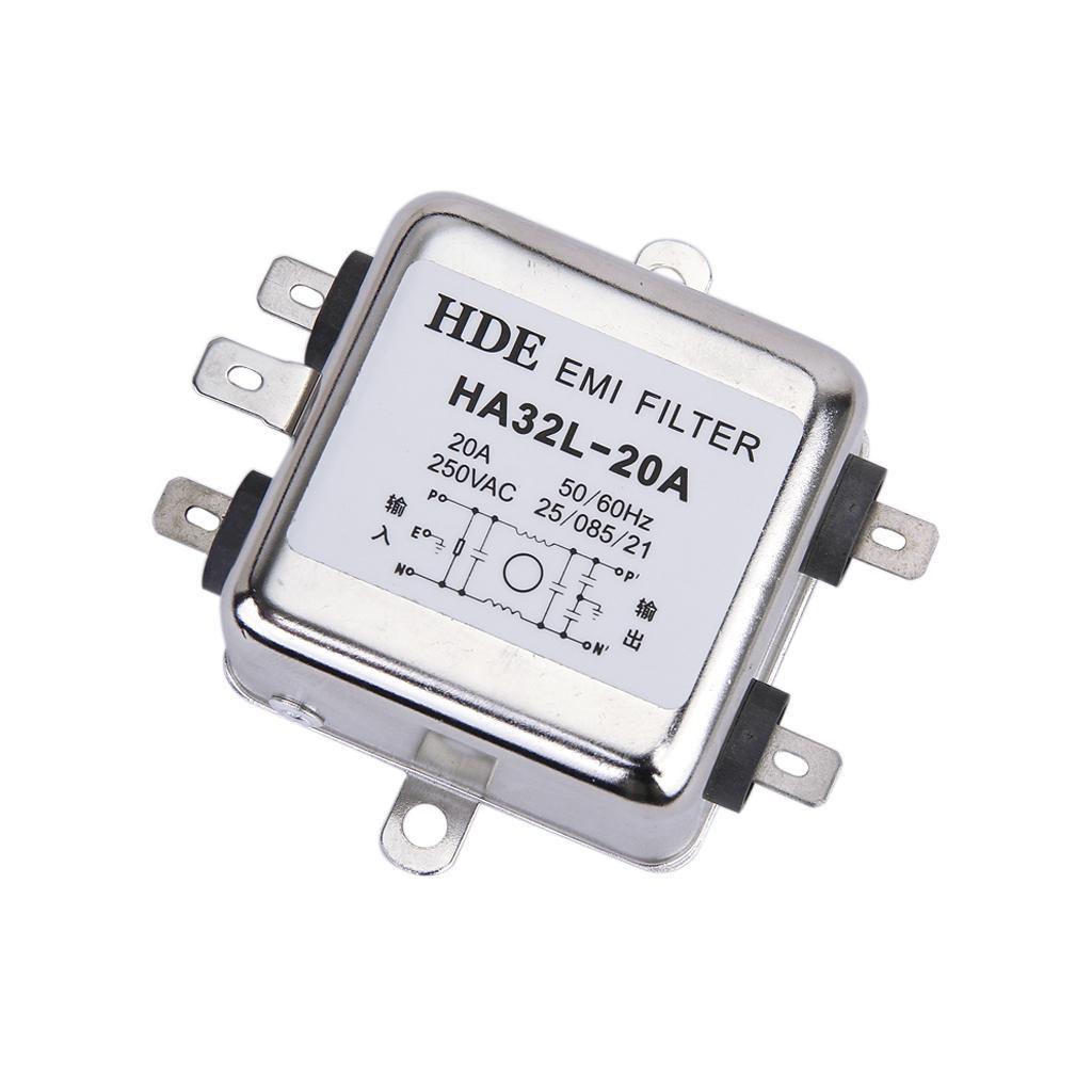 Power EMI Filter HA32L-20A 50/60Hz 250V AC