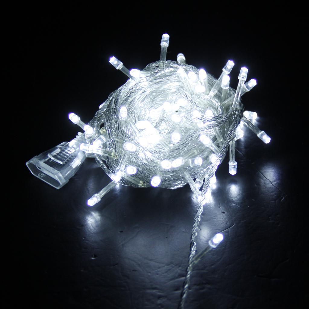 100 LED 32 Feet 220V Christmas Wedding Fairy String Lights -Pure White EU Standard