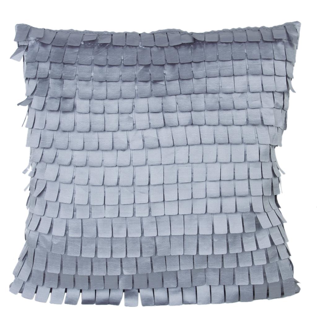 43X43cm Grey Small Cloth Sheet Pattern Satin Throw Pillow Case