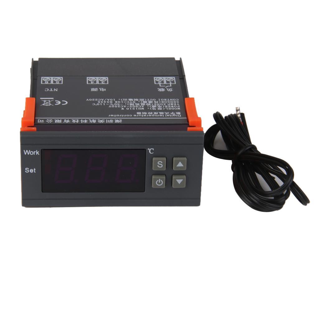 AC 90V-250V Digital Temperature Controller Thermostat MH1210W