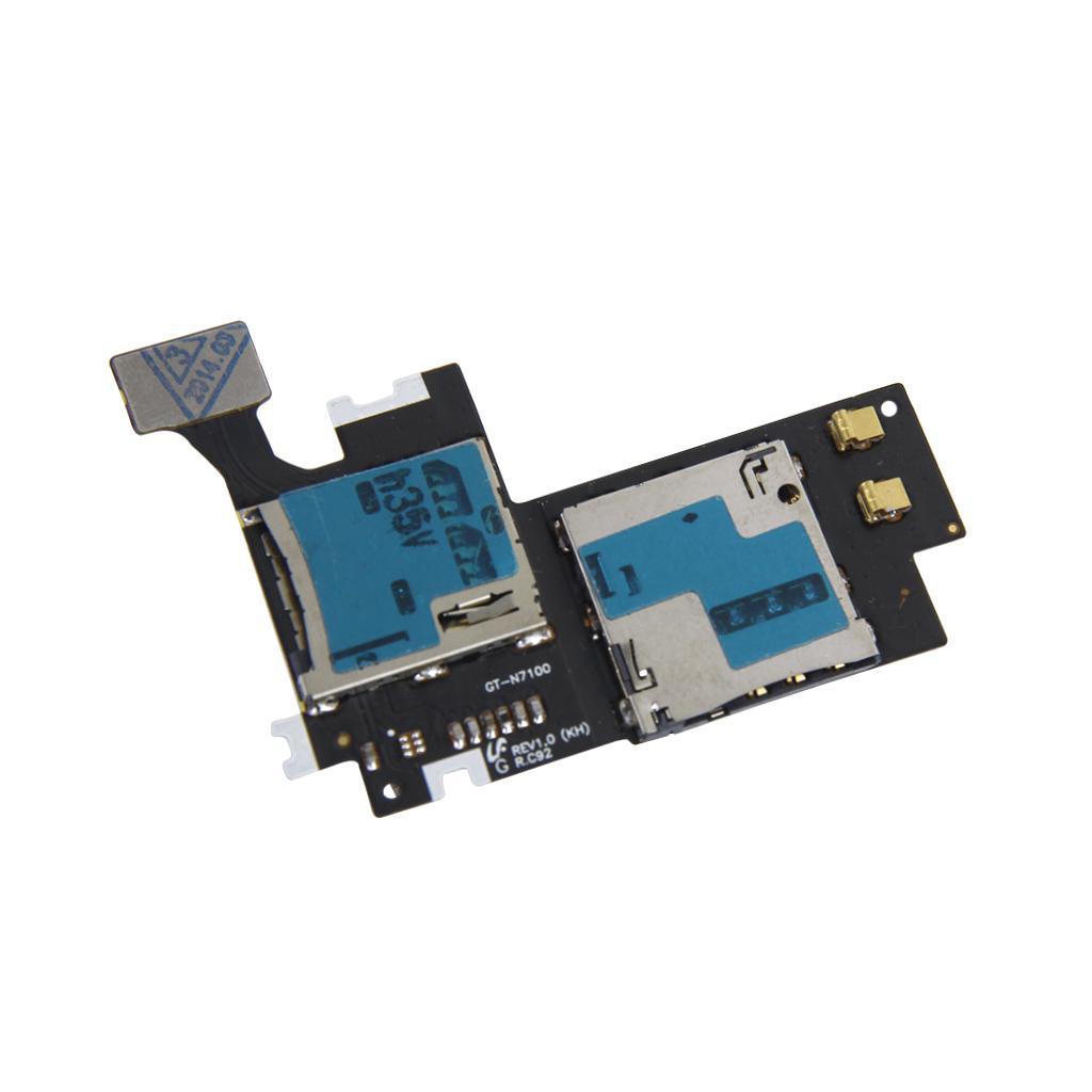 Micro SIM SD Card Holder/Reader Flex Cable for Samsung Galaxy Note 2 II N7100