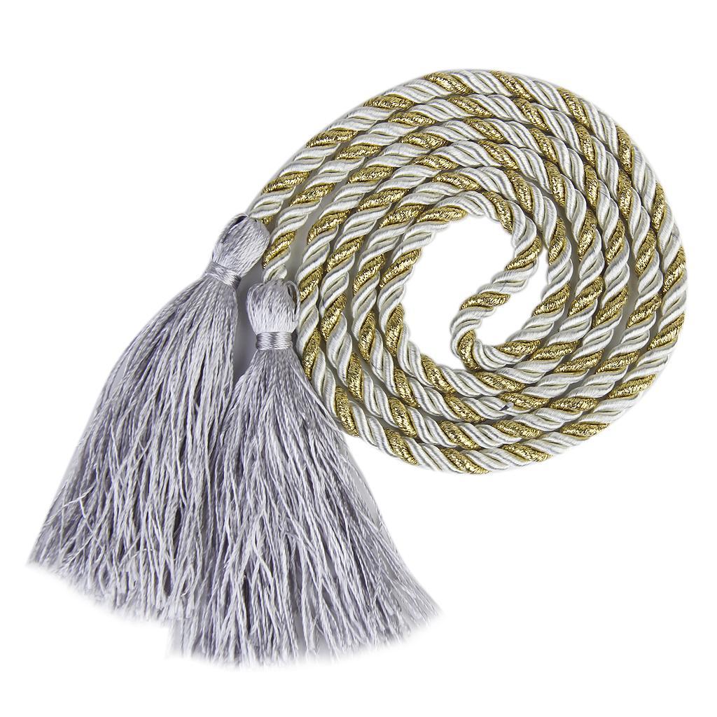 1 Pair Tassel Rope Curtain Tiebacks Tie Backs Living Bed Room Grey + Golden