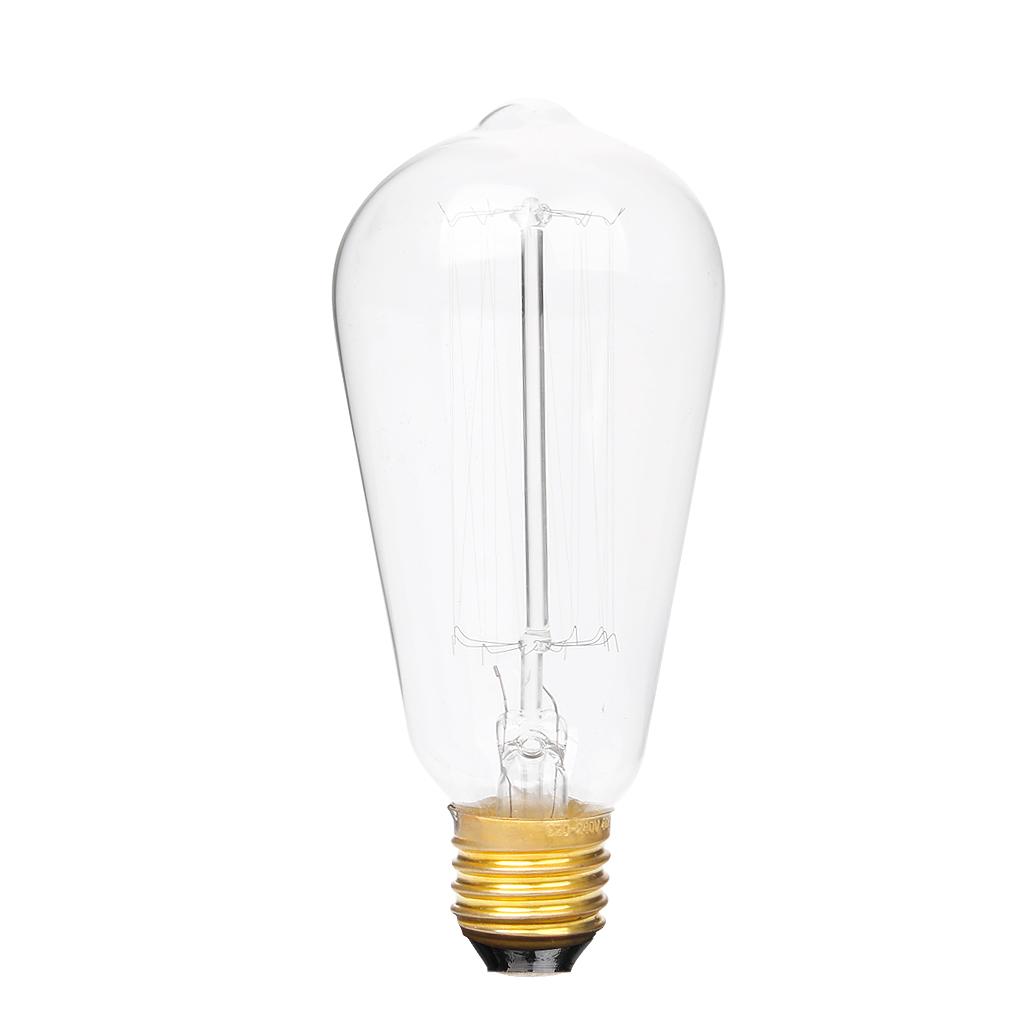 Edison tungsten filament vintage antique Light Bulb E27 ST64