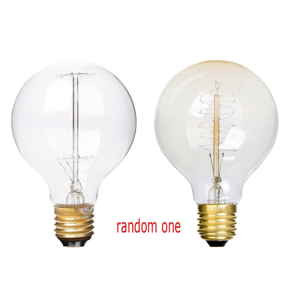 Edison tungsten filament vintage antique Light Bulb E27 G80 Random One