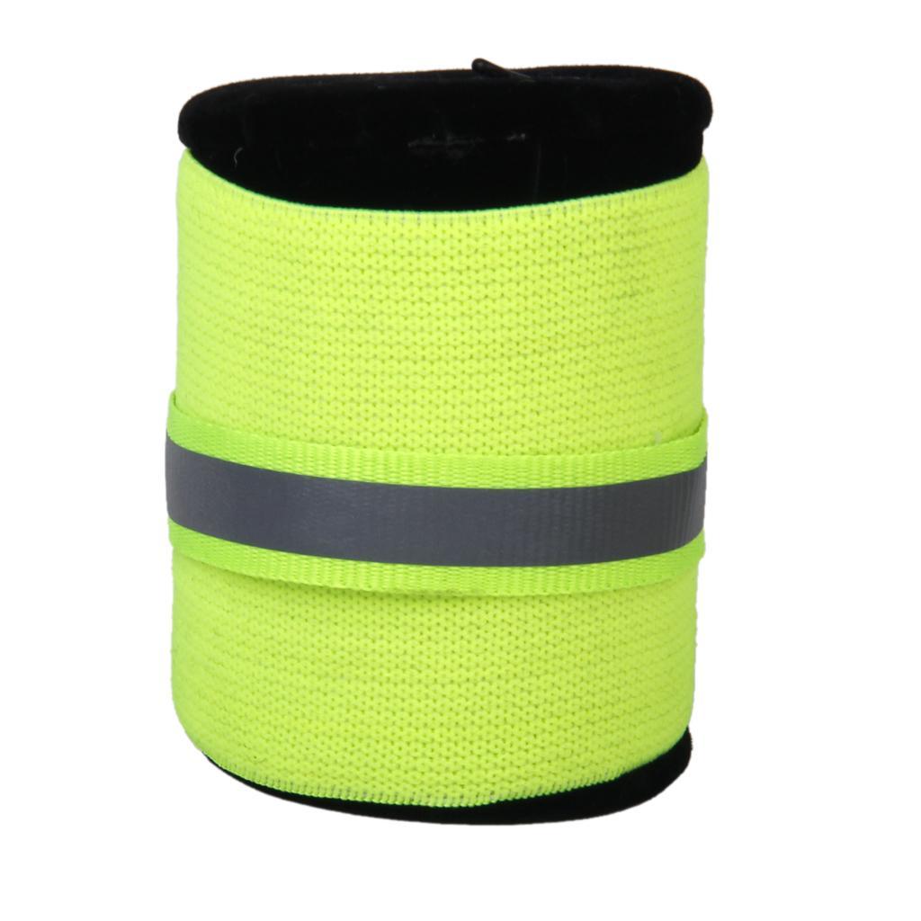 2pcs Elastic Pet Dog Safety Leg Bands Reflective Strips Green L