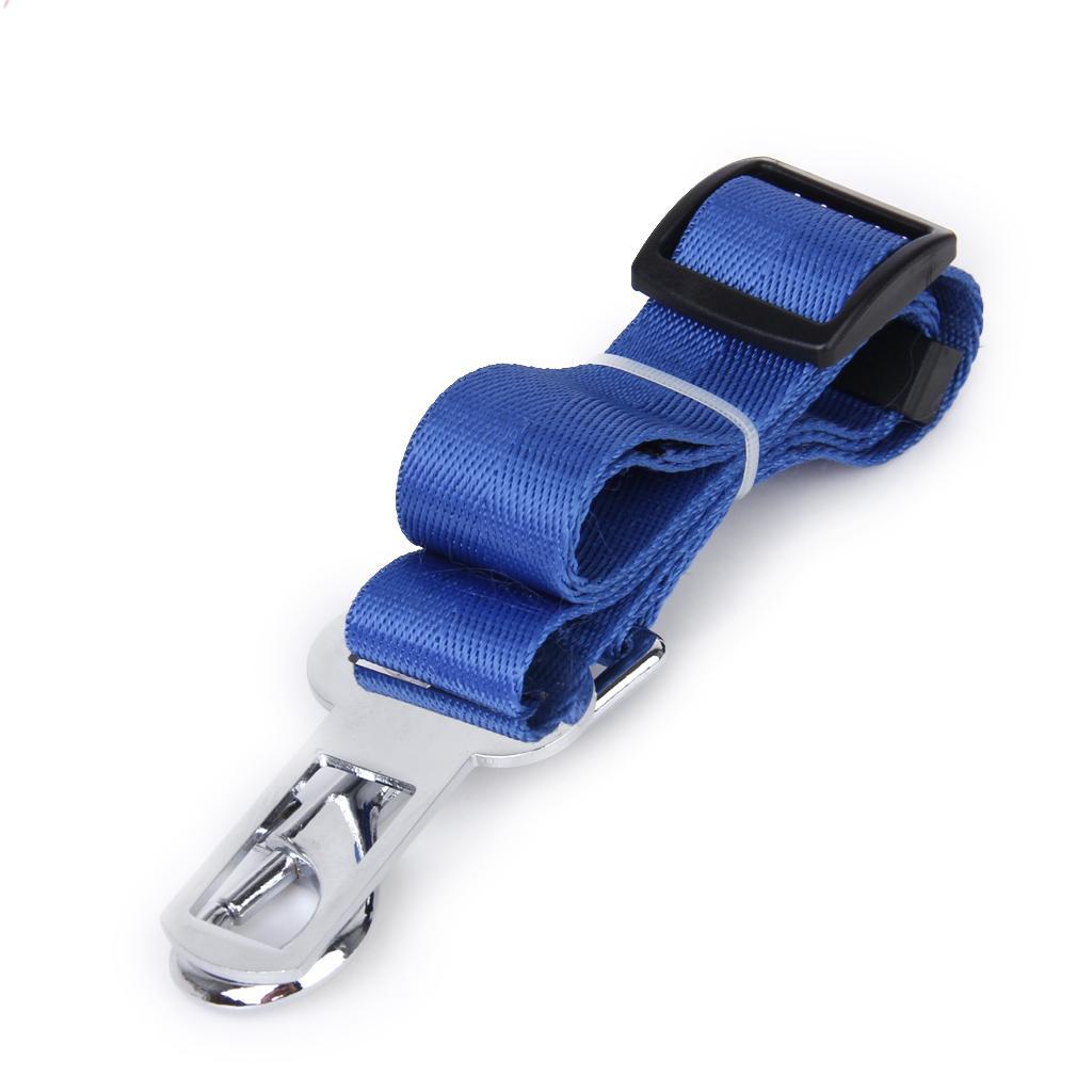 Dog Safety Seat Belt Restraint For Car Van Lock Adjustable Pet Lead - Blue