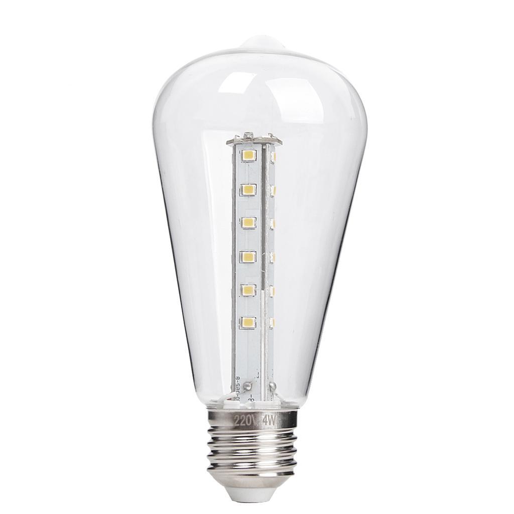 AC 220-240V 4W Edison Filament Vintage Antique LED Corn Light Bulb E27 ST64