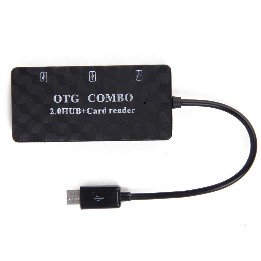 OTG Multi Function USB 2.0 HUB + TF Card Reader Combo for Samsung