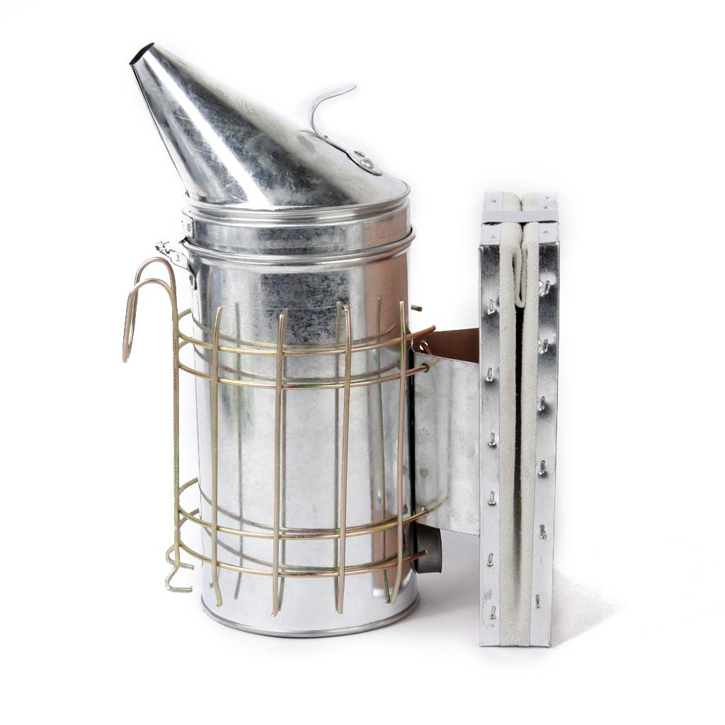 Bee Hive Smoker Galvanized Sheet Steel w Heat Shield