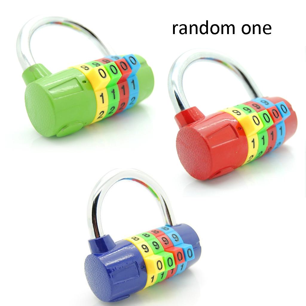 Random One 4-Digit Resettable Number Travel Gym Locker Padlock