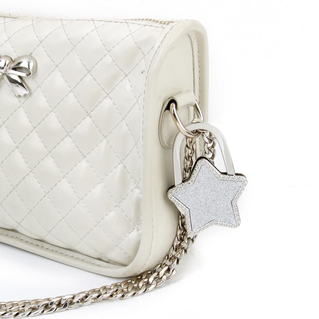 Unisex Table Star Foldable Purse Bag Hanger Handbag Hook Holder Silver