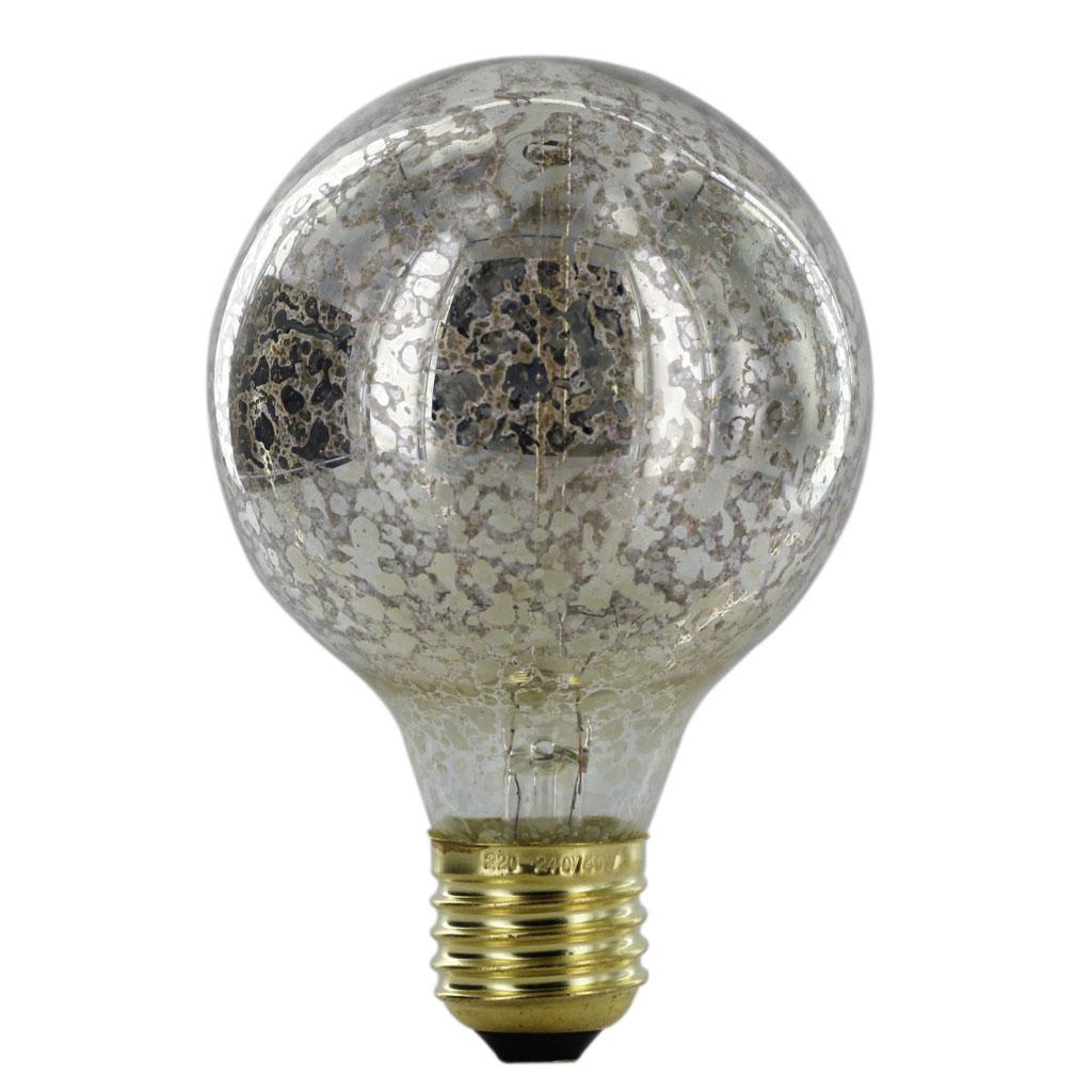 220-240V Silvering Edison Tungsten Filament Vintage Light Bulb E27 G80
