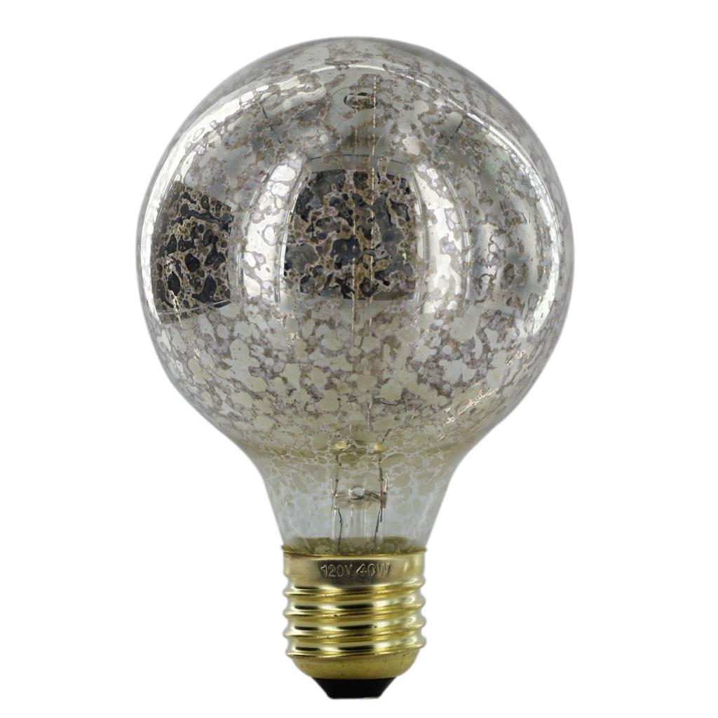 110-130V Silvering Edison Tungsten Filament Vintage Light Bulb E27 G80