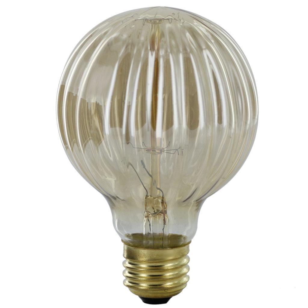 E27 220-240V Edison Tungsten Filament Vintage Light Bulb G80 Threaded Shaped