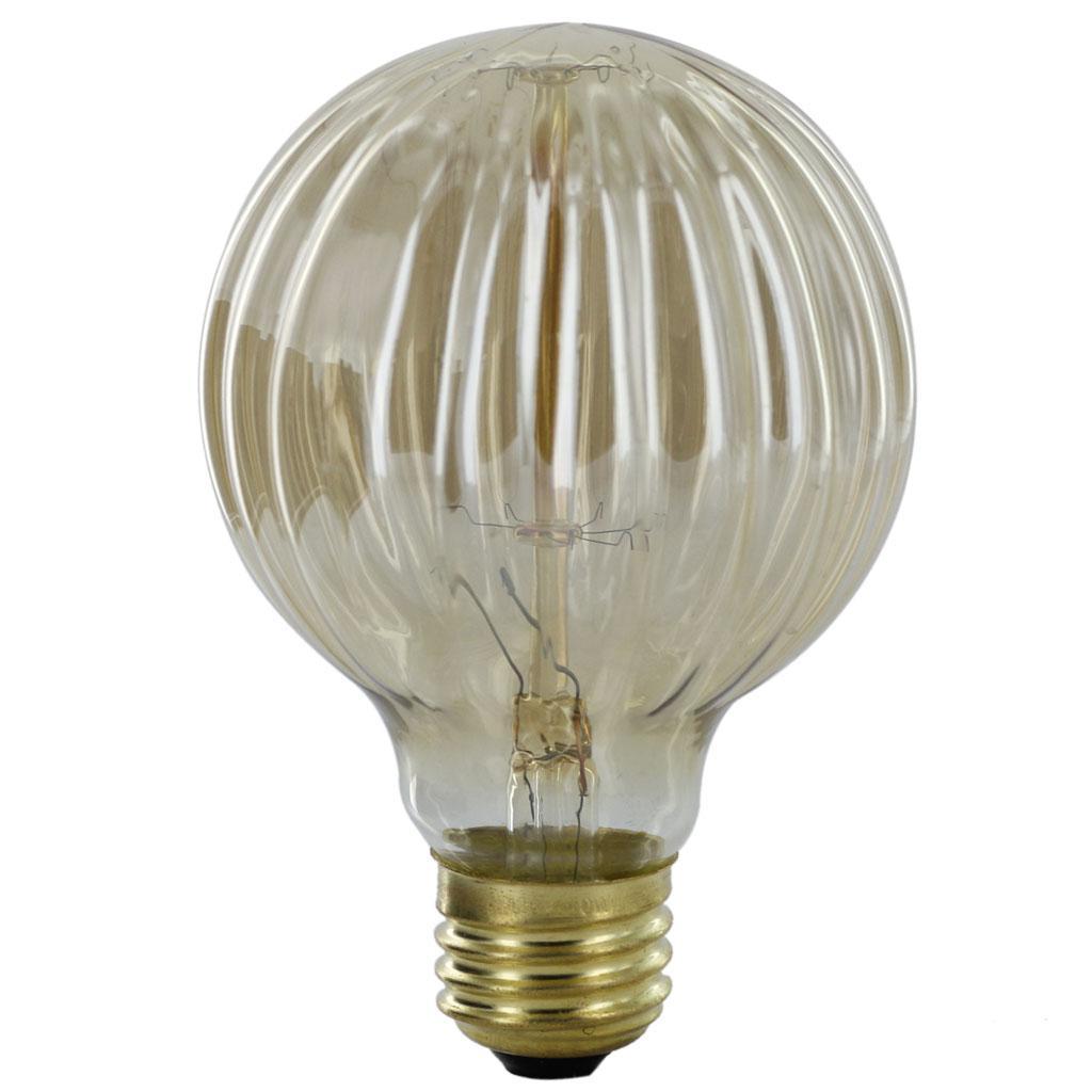 E27 110-130V Edison Tungsten Filament Vintage Light Bulb G80 Threaded Shaped