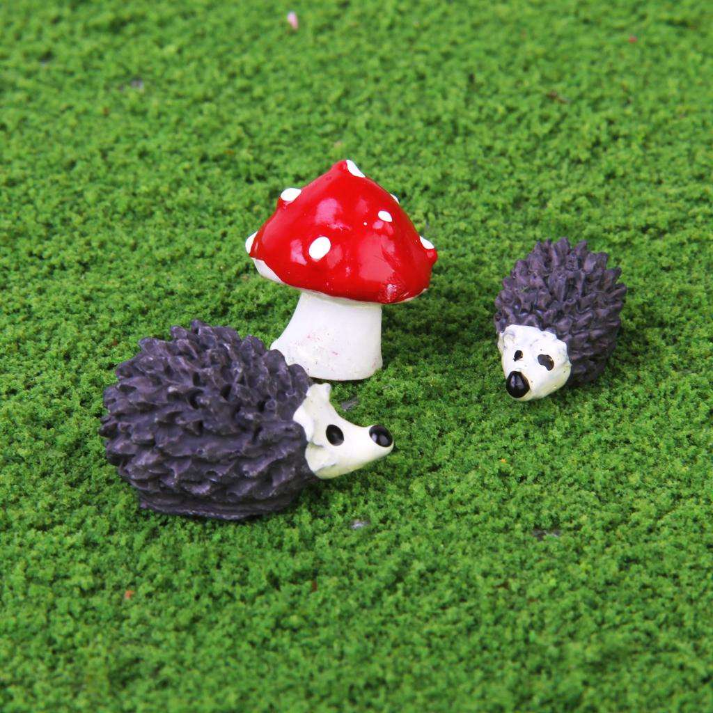 3pcs Miniature Dollhouse Bonsai Craft Garden Landscape DIY Hedgehog Decor